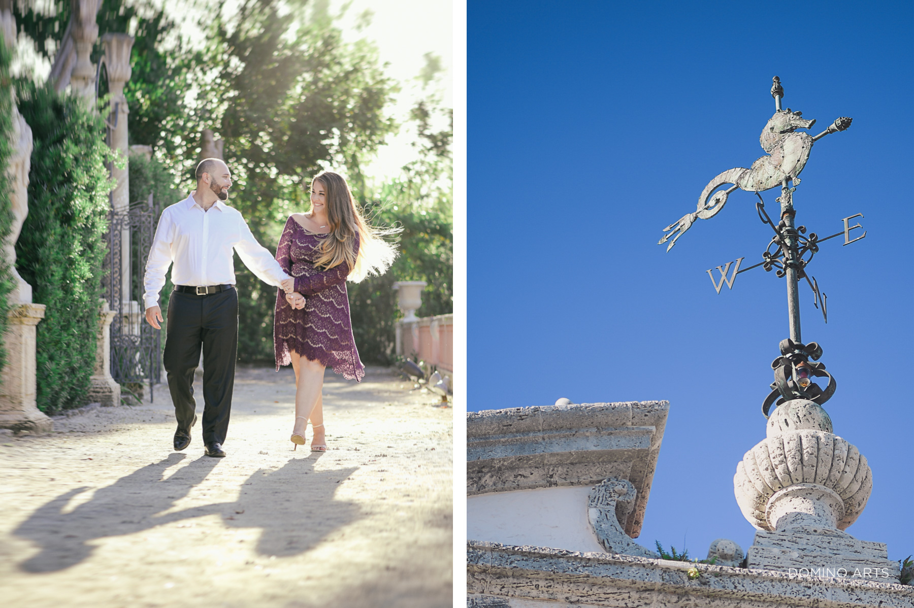 Fun Luxury Engagement Photography at Vizcaya Museum & Gardens