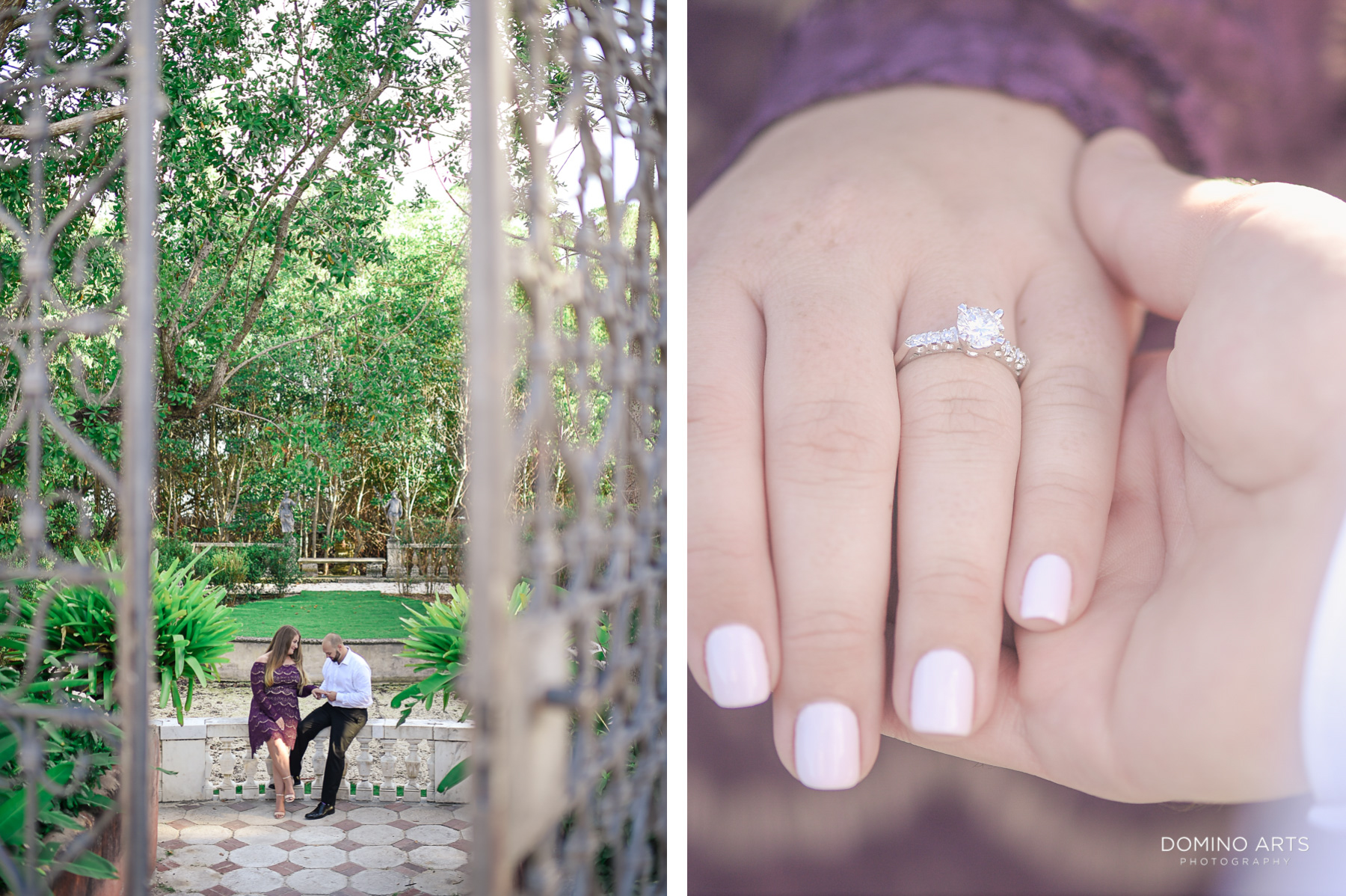 I Do at Vizcaya Museum and Gardens Miami Engagement