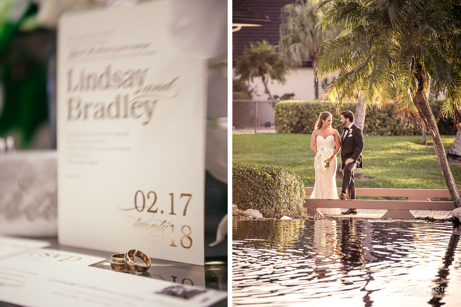 Wedding Invitation photographed by Domino Arts