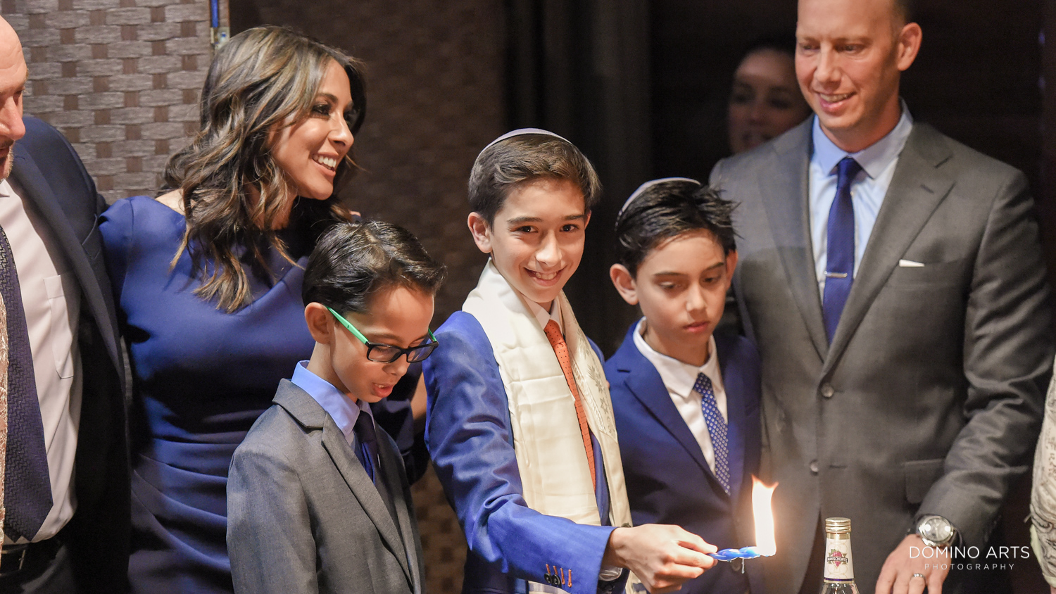 Candle lighting traditional Mitzvah Service at Delaire Country Club