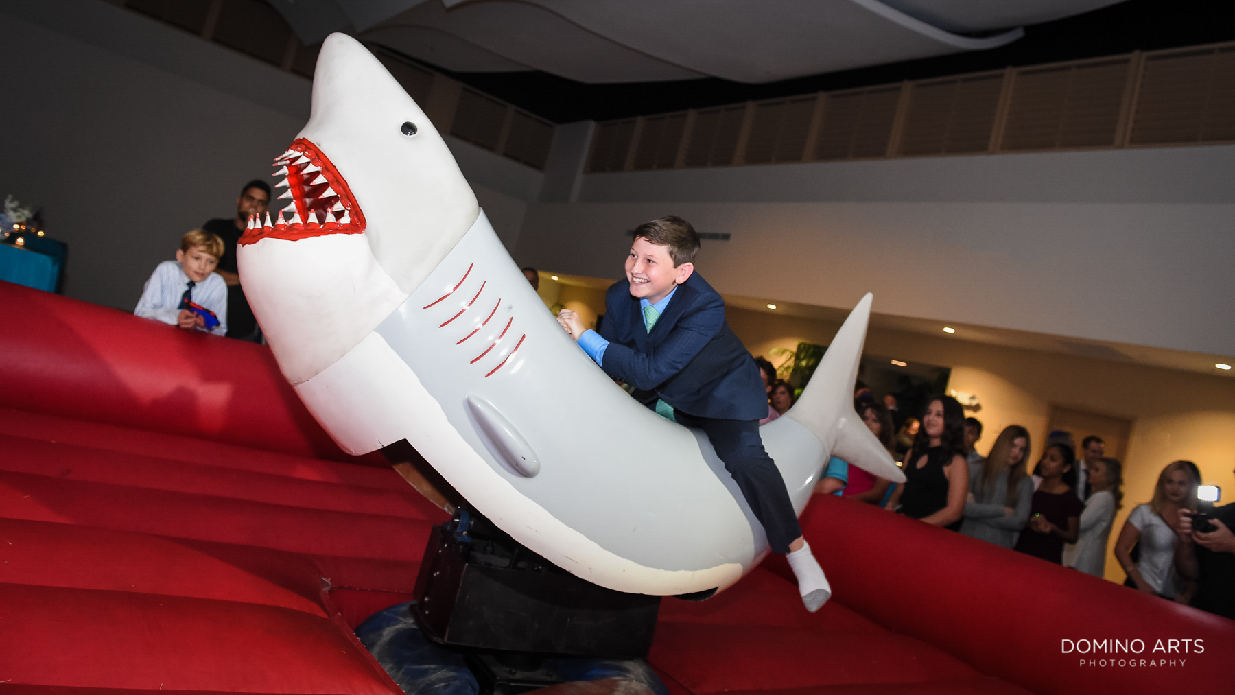 best games and entertainment at Unique shark theme Mitzvah at Temple Beth El