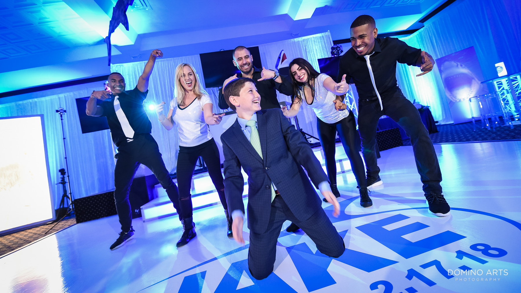 Fun best games and entertainment at Unique shark theme Mitzvah at Temple Beth El