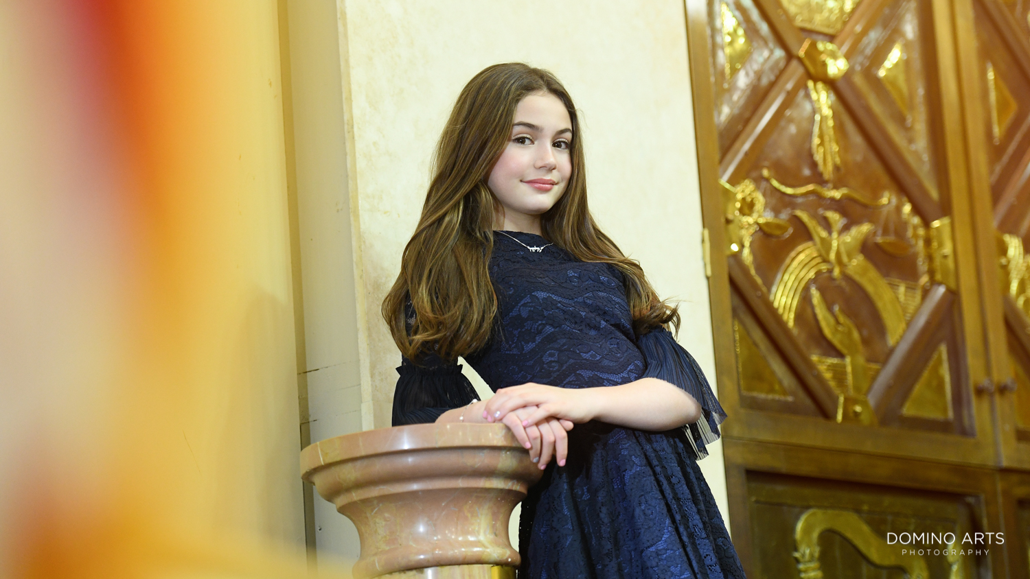 Bat Mitzvah girl at the bimah Temple Menorah, Miami