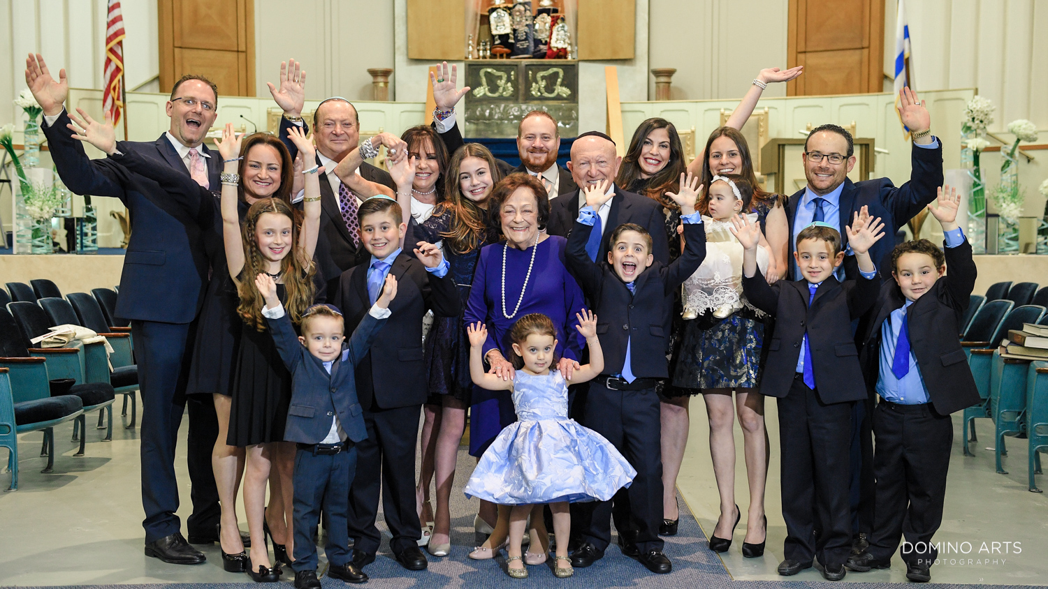 Bat Mitzvah family picture Temple Menorah, Miami