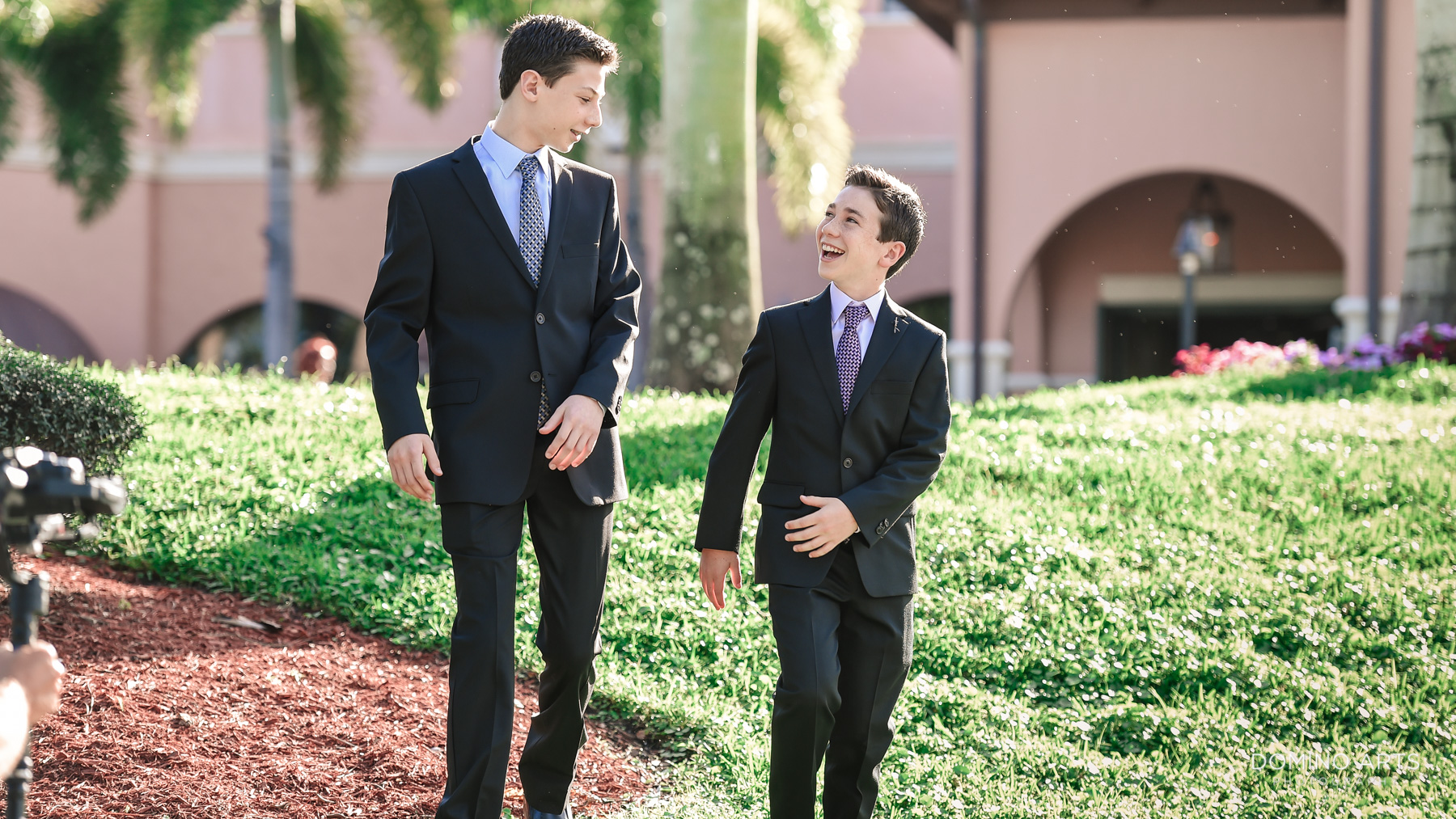 brothers portrait at Luxury B'Nai Mitzvah Photography at Broken Sound Country Club