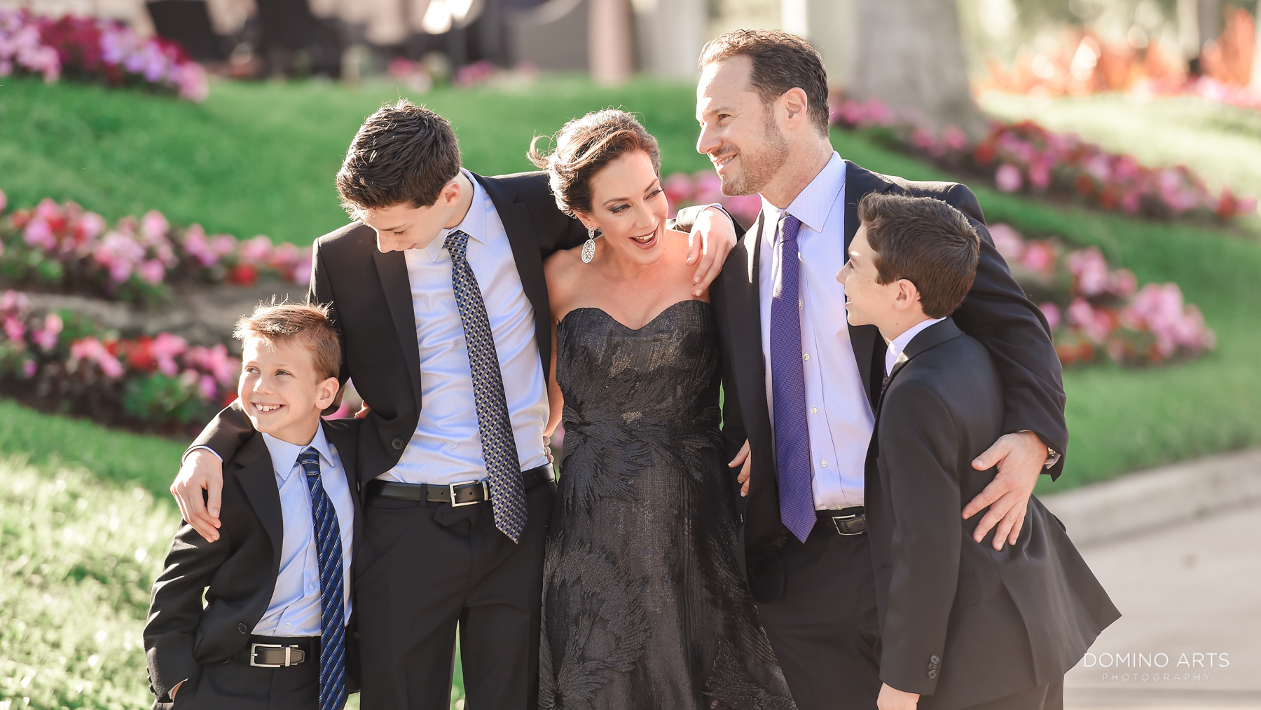 happy family portrait at Luxury B'Nai Mitzvah Photography at Broken Sound Country Club