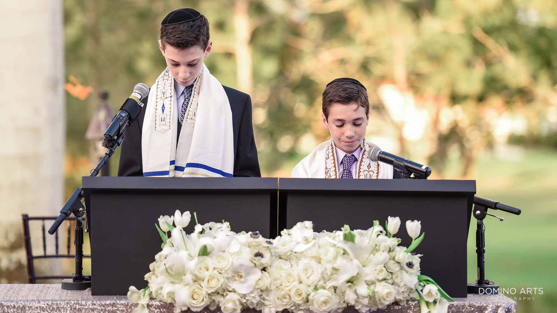 reading at ceremony at Luxury B'Nai Mitzvah Photography at Broken Sound Country Club