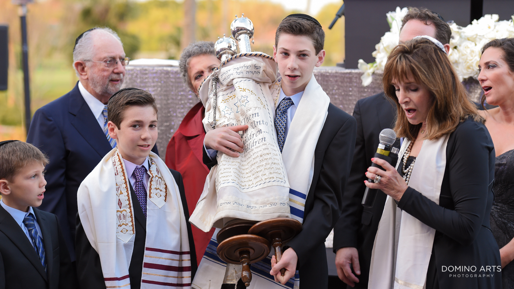traditional mitzvah ceremony at Broken Sound Country Club