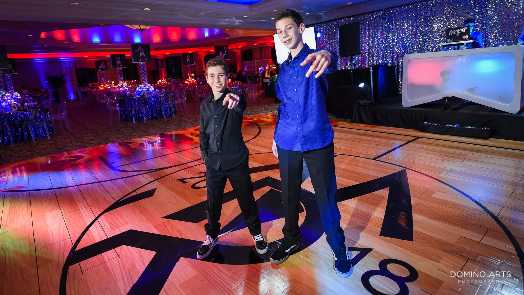 boys and Sports theme mitzvah decor at Broken Sound Country Club