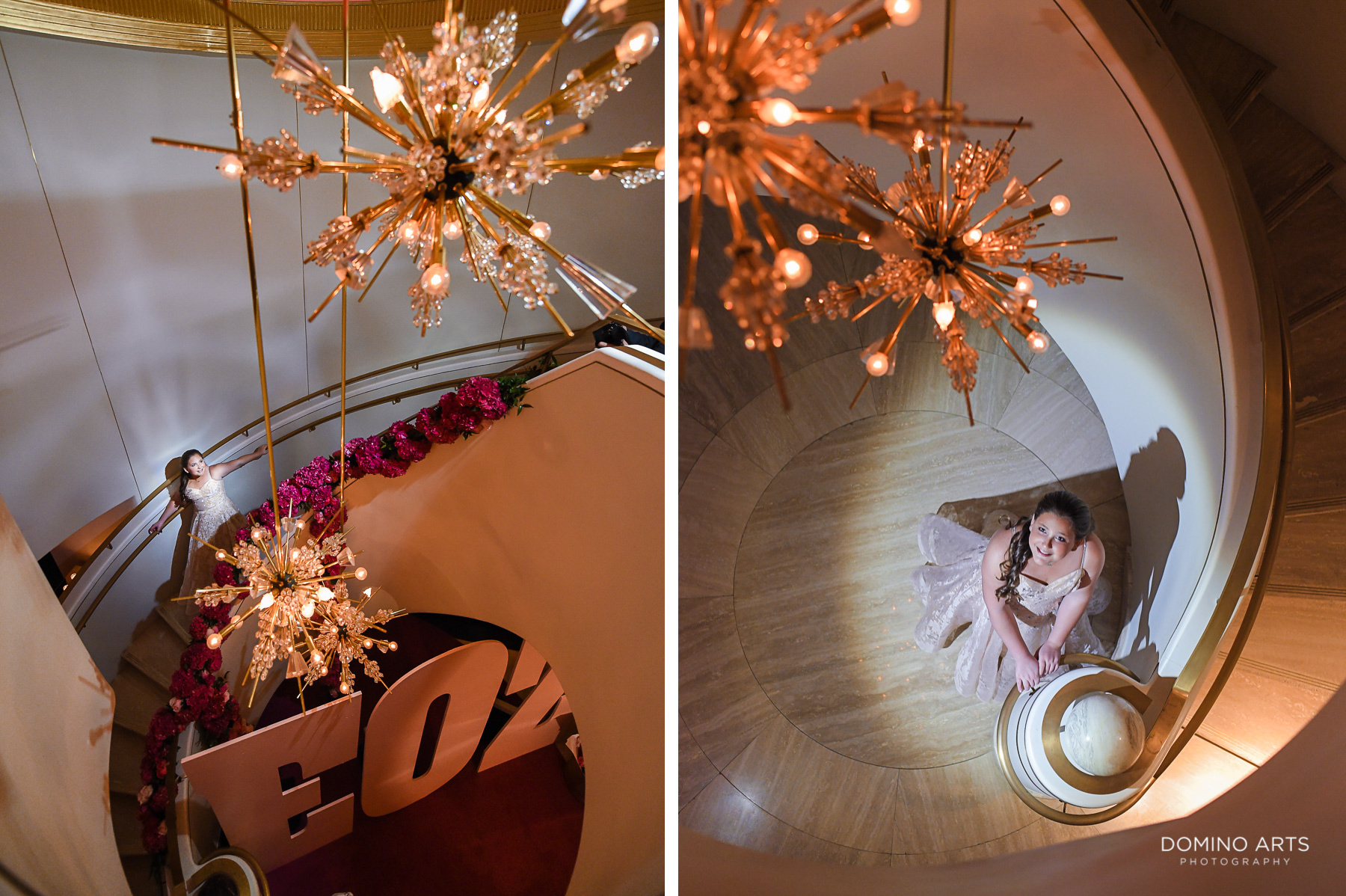 Floral and Glitter decor at Luxury Bat Mitzvah at Faena Hotel Theater Miami Beach
