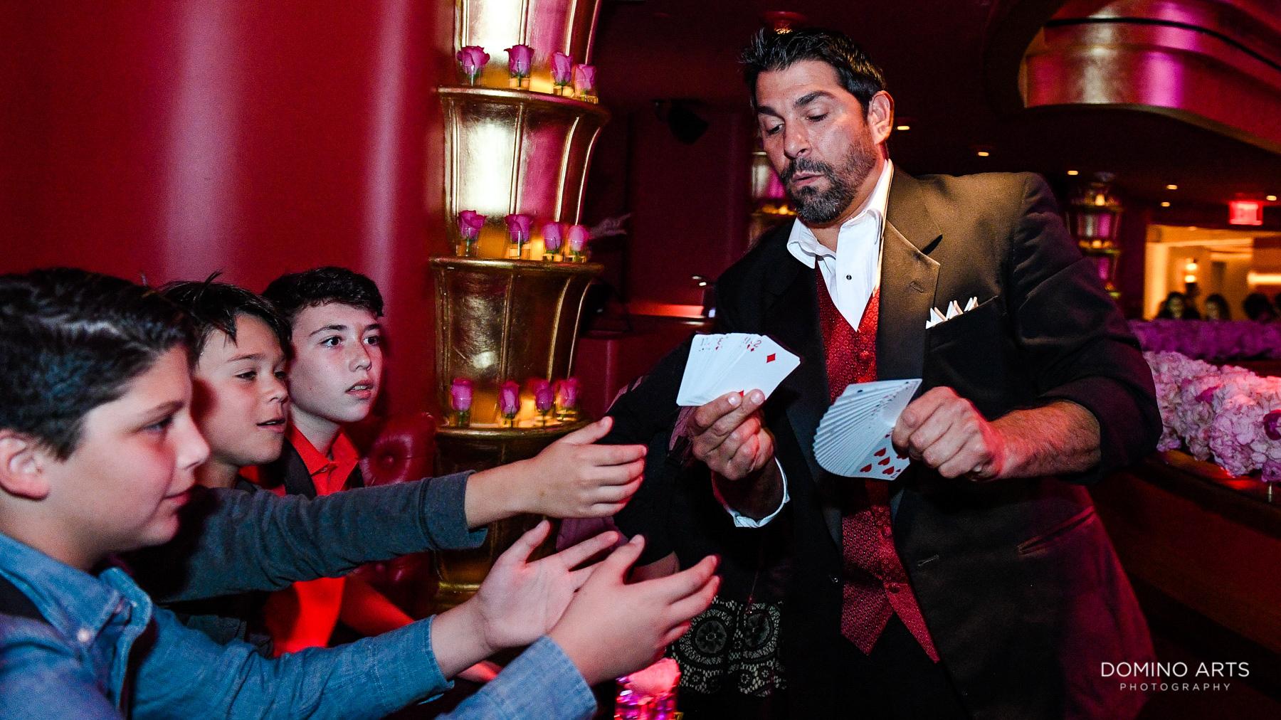 Magic Fun and entertainment at Bat Mitzvah at Faena Hotel Theater Miami Beach