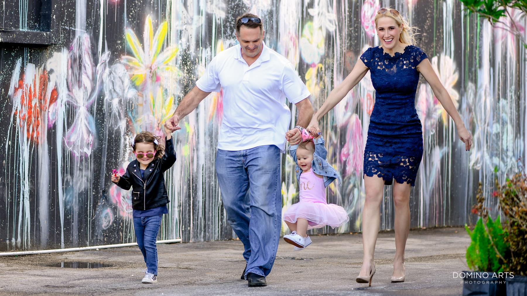 Fun family photography in Little Havana Miami art walls Destination