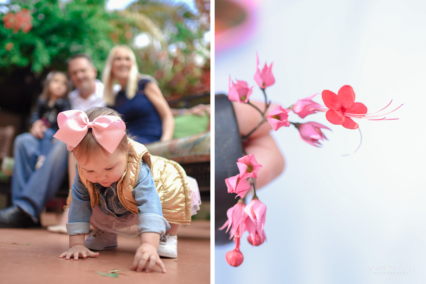 Fun family photography in Little Havana Miami Destination flowers