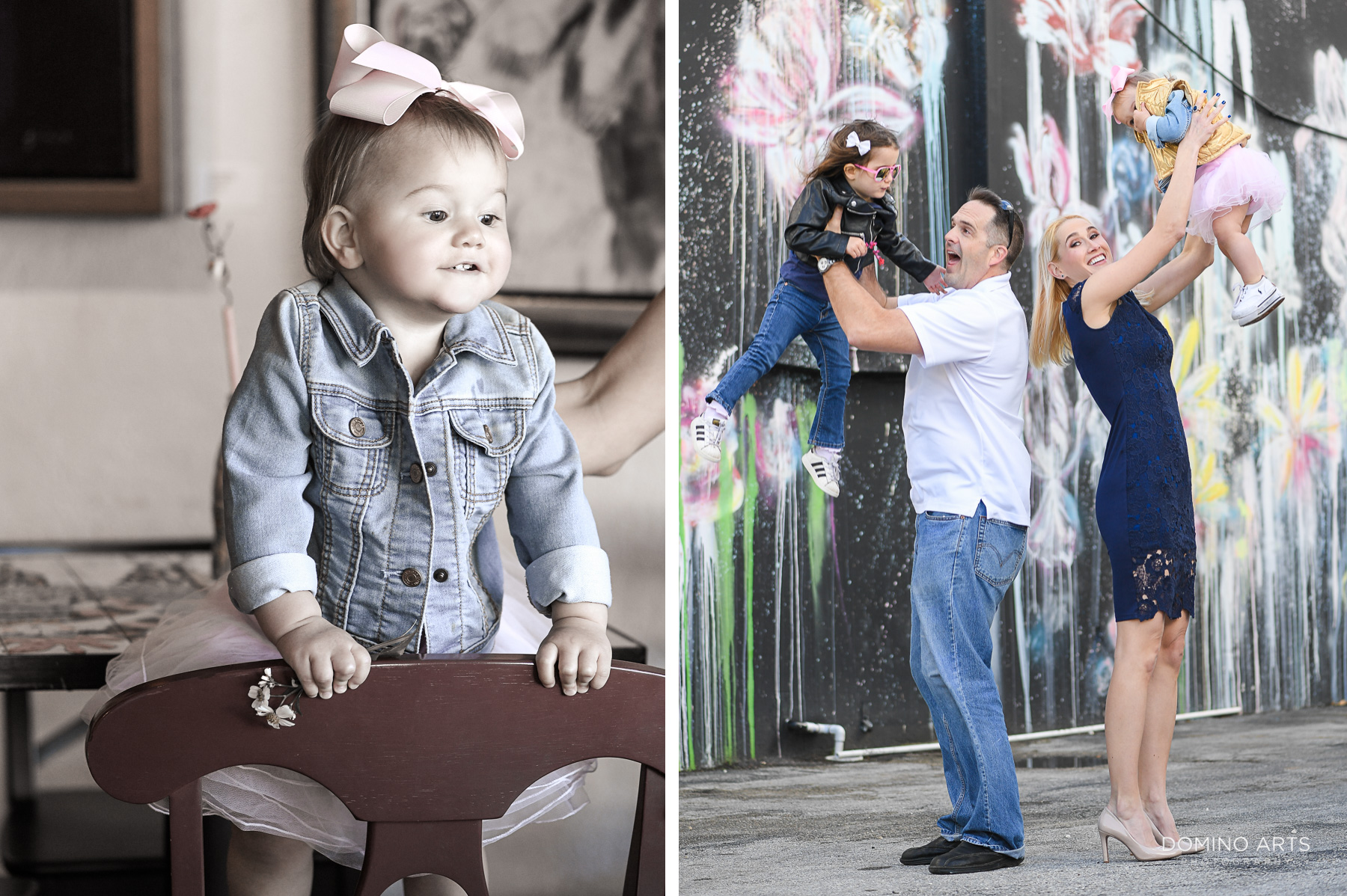 Best natural spontaneous Fun family photography in Little Havana Miami Destination