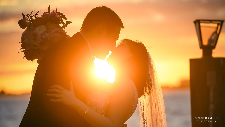 Sunset wedding picture at Ritz Carlton Sarasota