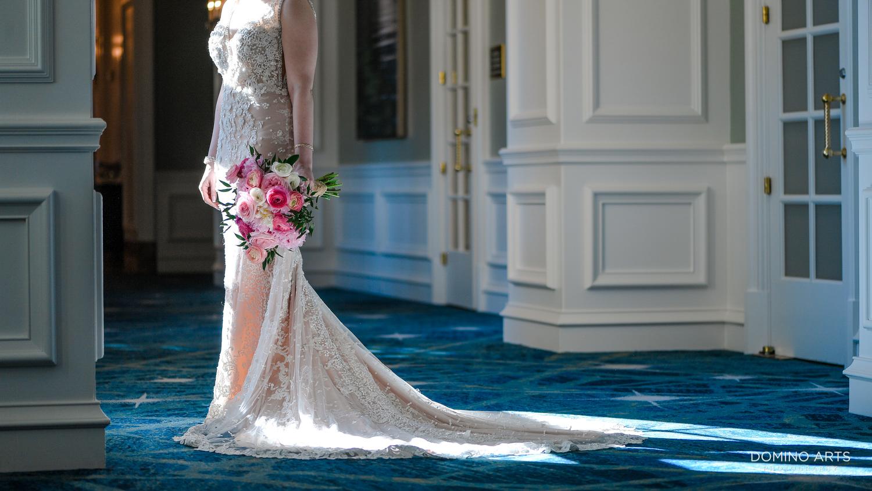Wedding bouquet with peony flowers at The Ritz Carlton Sarasota