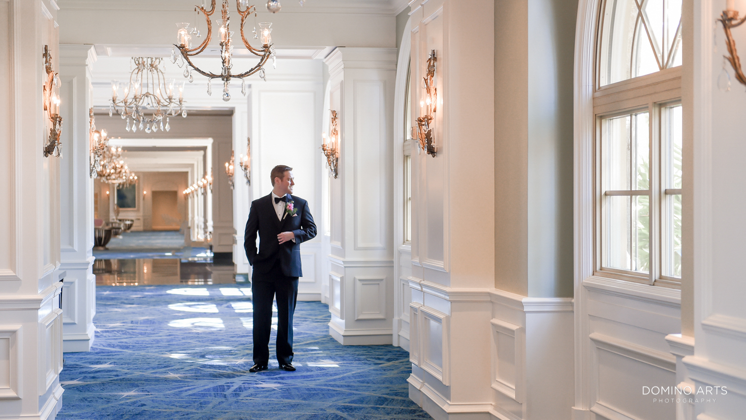 Groom lifestyle picture at The Ritz Carlton Sarasota