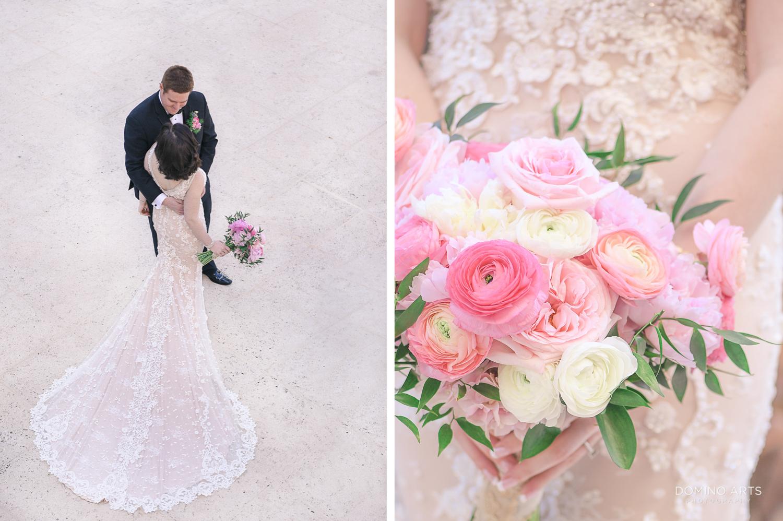 Luxury wedding photos of a bride and groom at The Ritz Carlton Sarasota