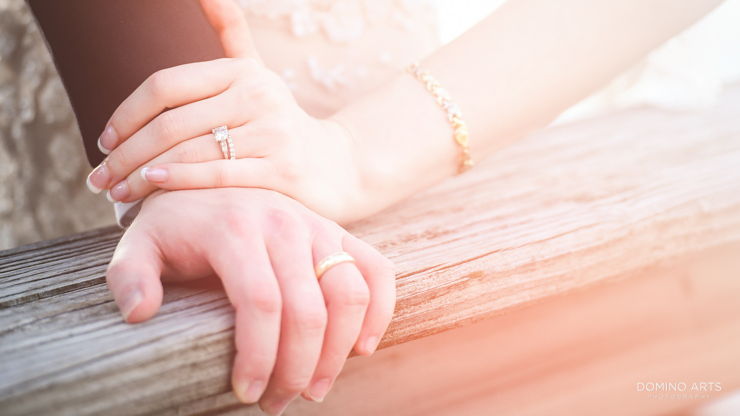Wedding bends and engagement ring photo at The Ritz Carlton Sarasota