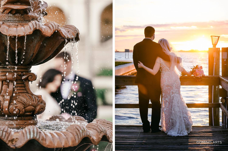 Romantic Sunset wedding picture at Ritz Carlton Sarasota
