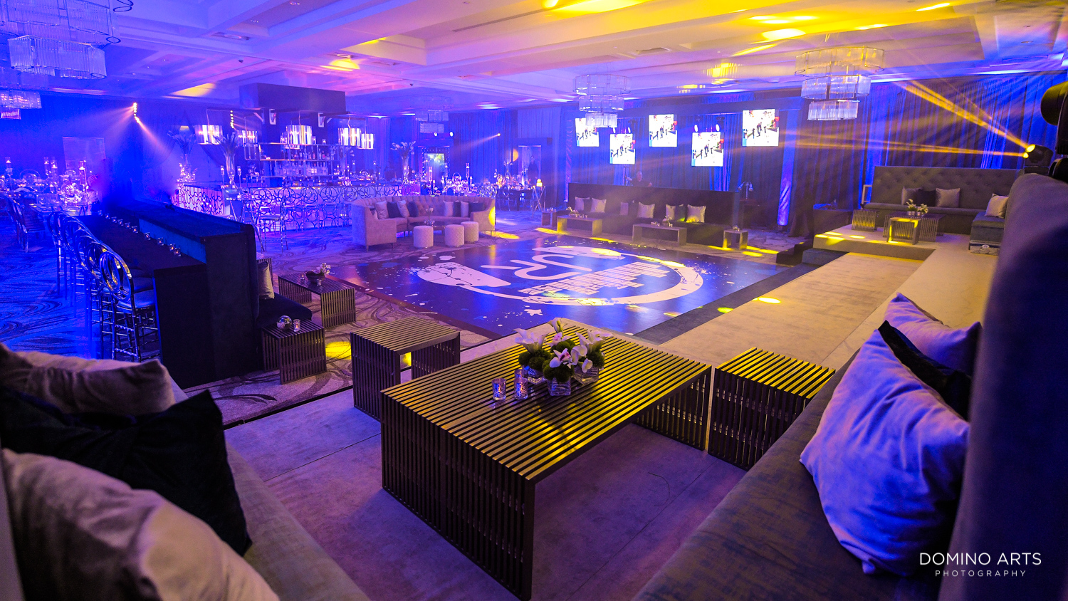 Unique and trendy Bar Mitzvah party and décor at Woodfield Country Club Boca Raton
