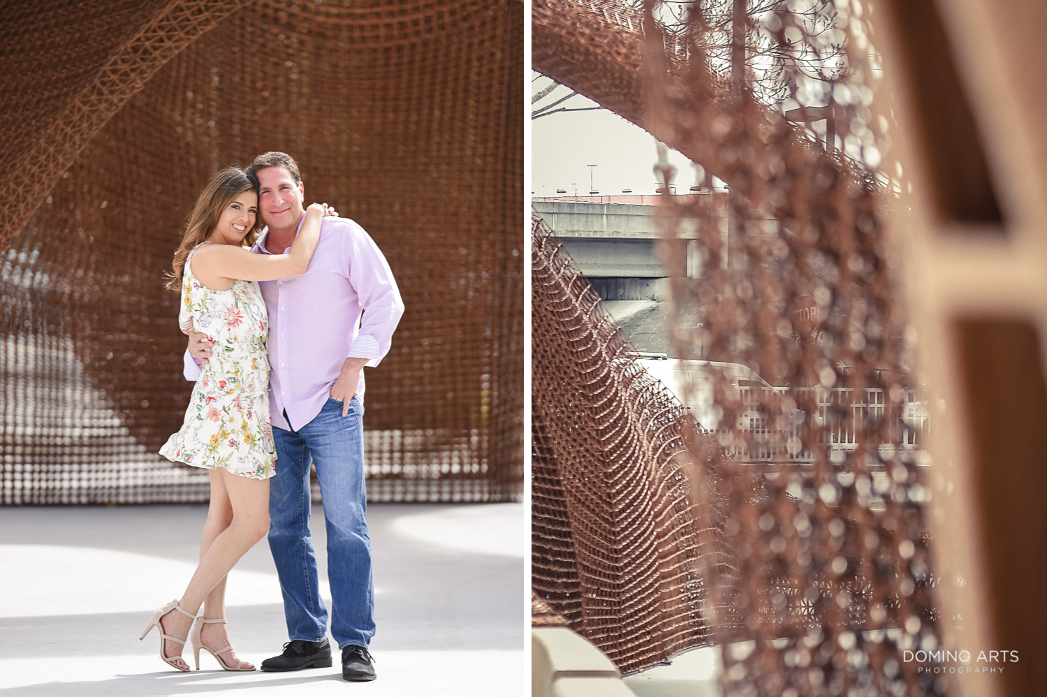 Romantic and fun engagement pictures at Miami Design District