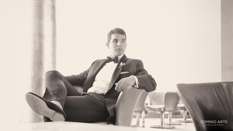 Classic elegant groom picture at fontainebleau miami