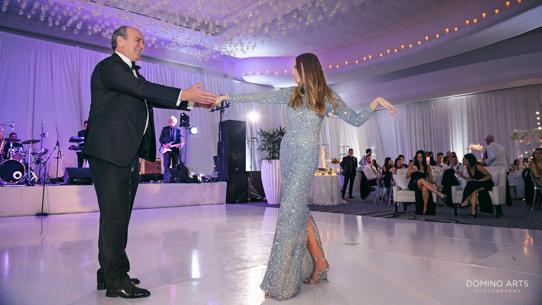 Elegant parent dance pictures at fontainebleau miami wedding