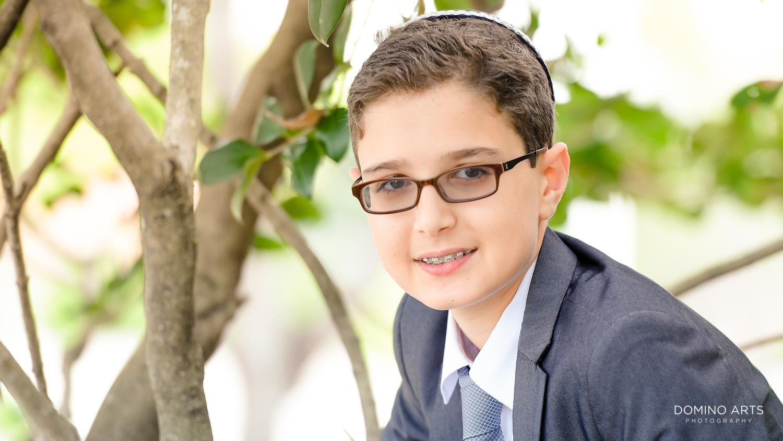 photograph of a Bar Mitzvah boy at Tample Chabad of Plantation