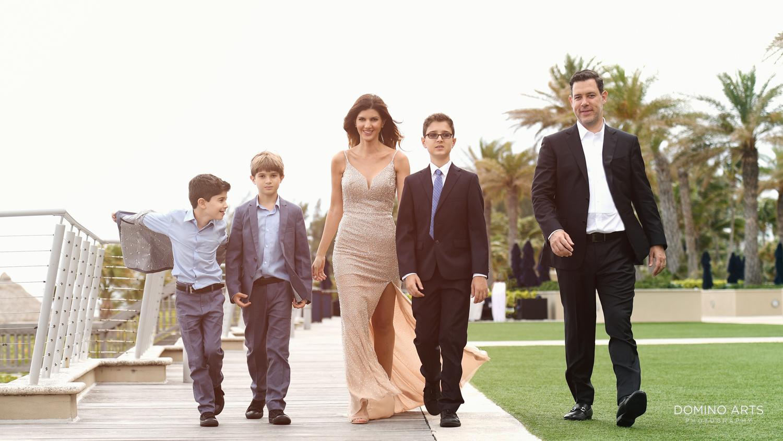 Fun Bar Mitzvah family photography at Marriott Harbor Beach Fort Lauderdale