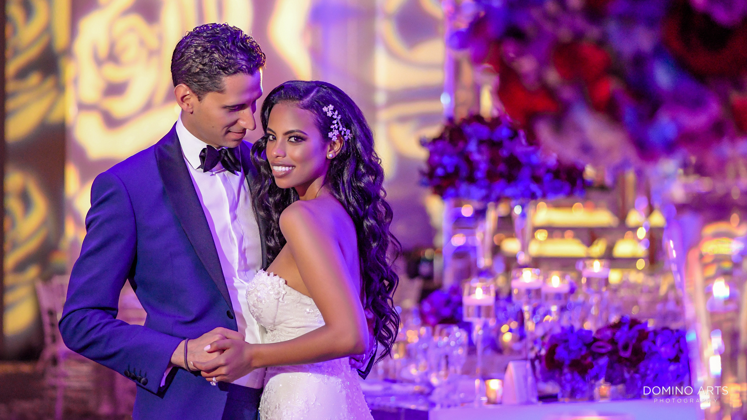 Beautiful Elegant wedding picture of bride and groom at The St. Regis Bal Harbour