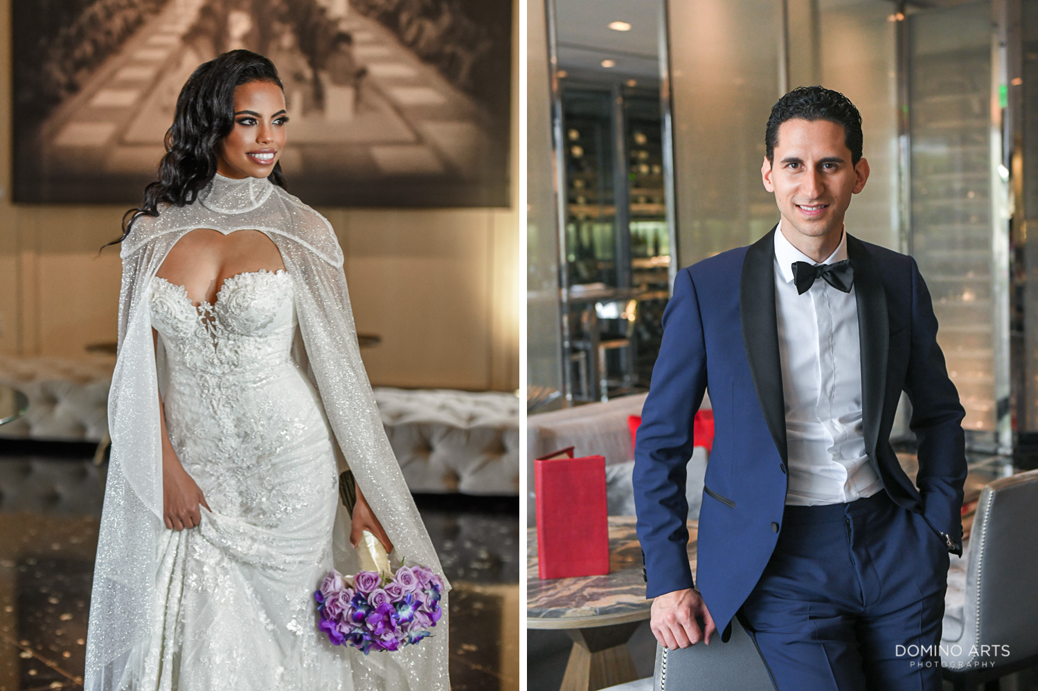 Cool wedding pictures of bride and groom at The St. Regis Bal Harbour