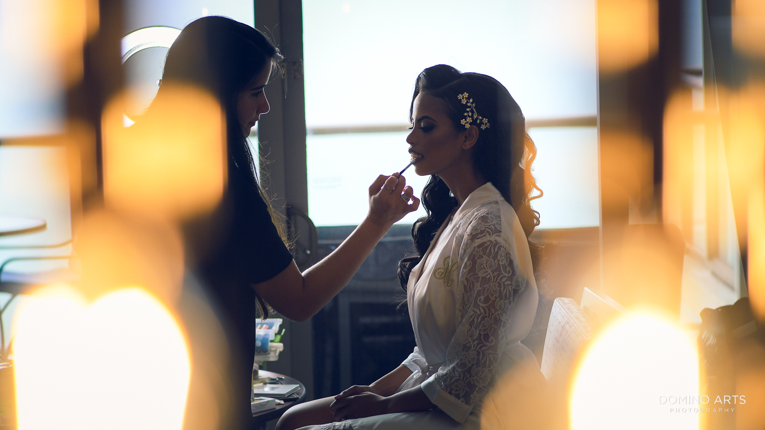 Bride getting ready at The St. Regis Bal Harbour