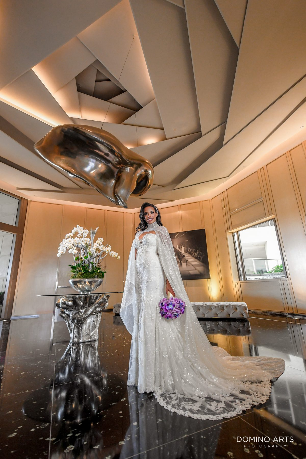 Best wedding picture of bride at The St. Regis Bal Harbour