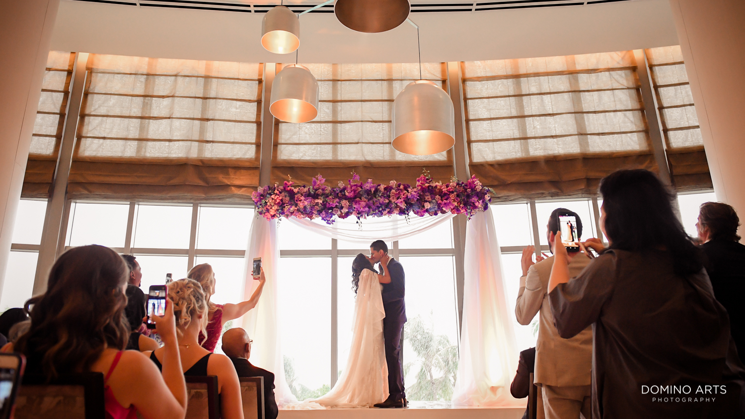 Luxury boutique wedding chuppah décor at The St. Regis Bal Harbour