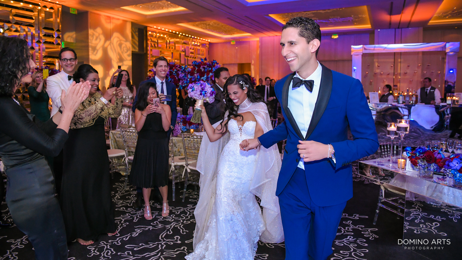 Fun wedding picture of bride and groom at The St. Regis Bal Harbour