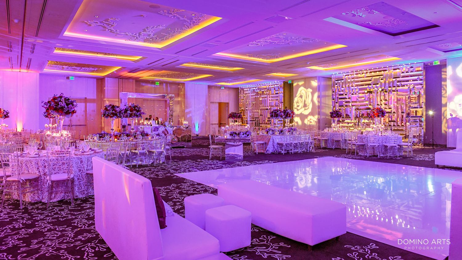 Luxury wedding décor at The St. Regis Bal Harbour