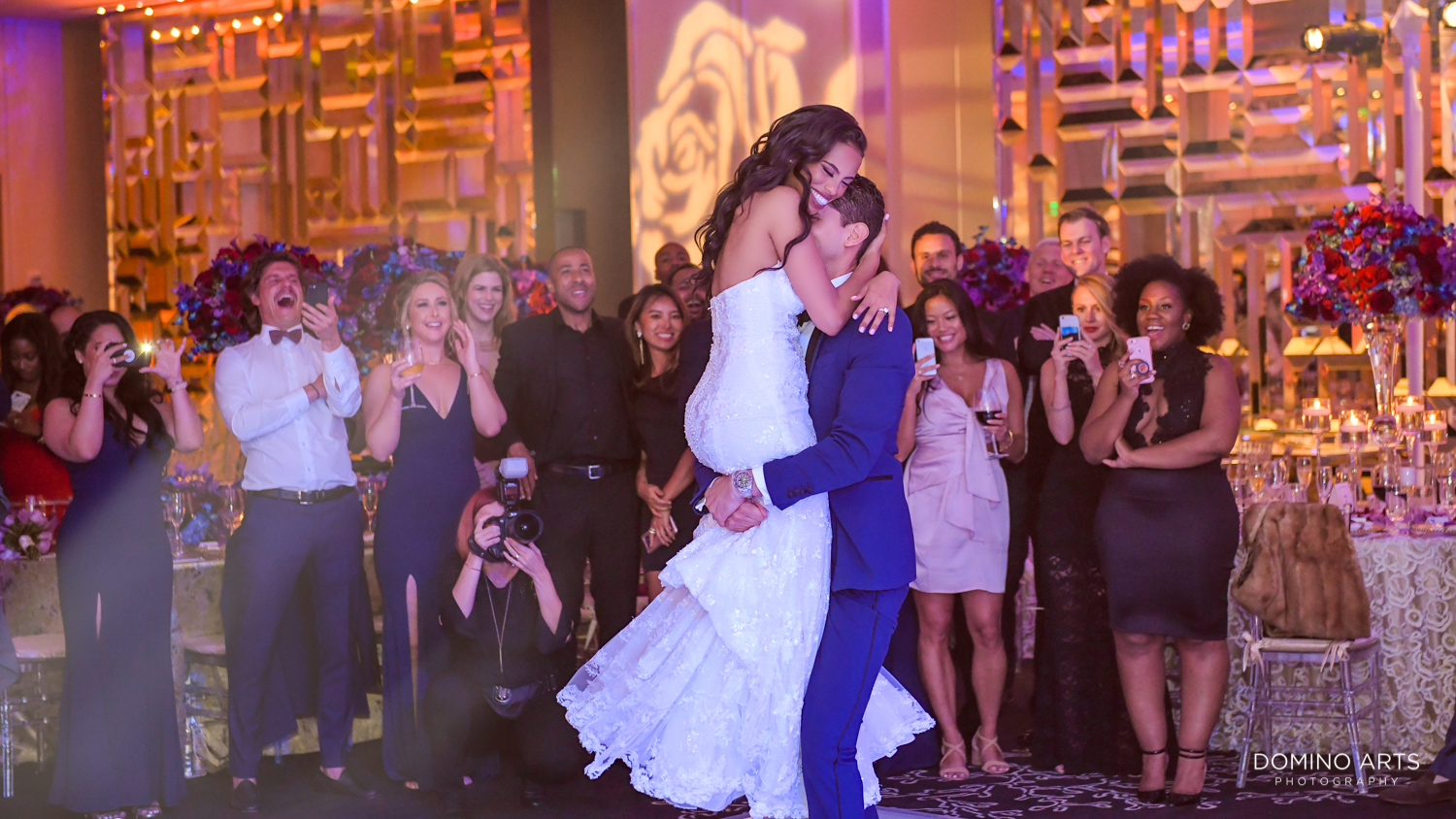 Best wedding picture of bride and groom first dance at The St. Regis Bal Harbour