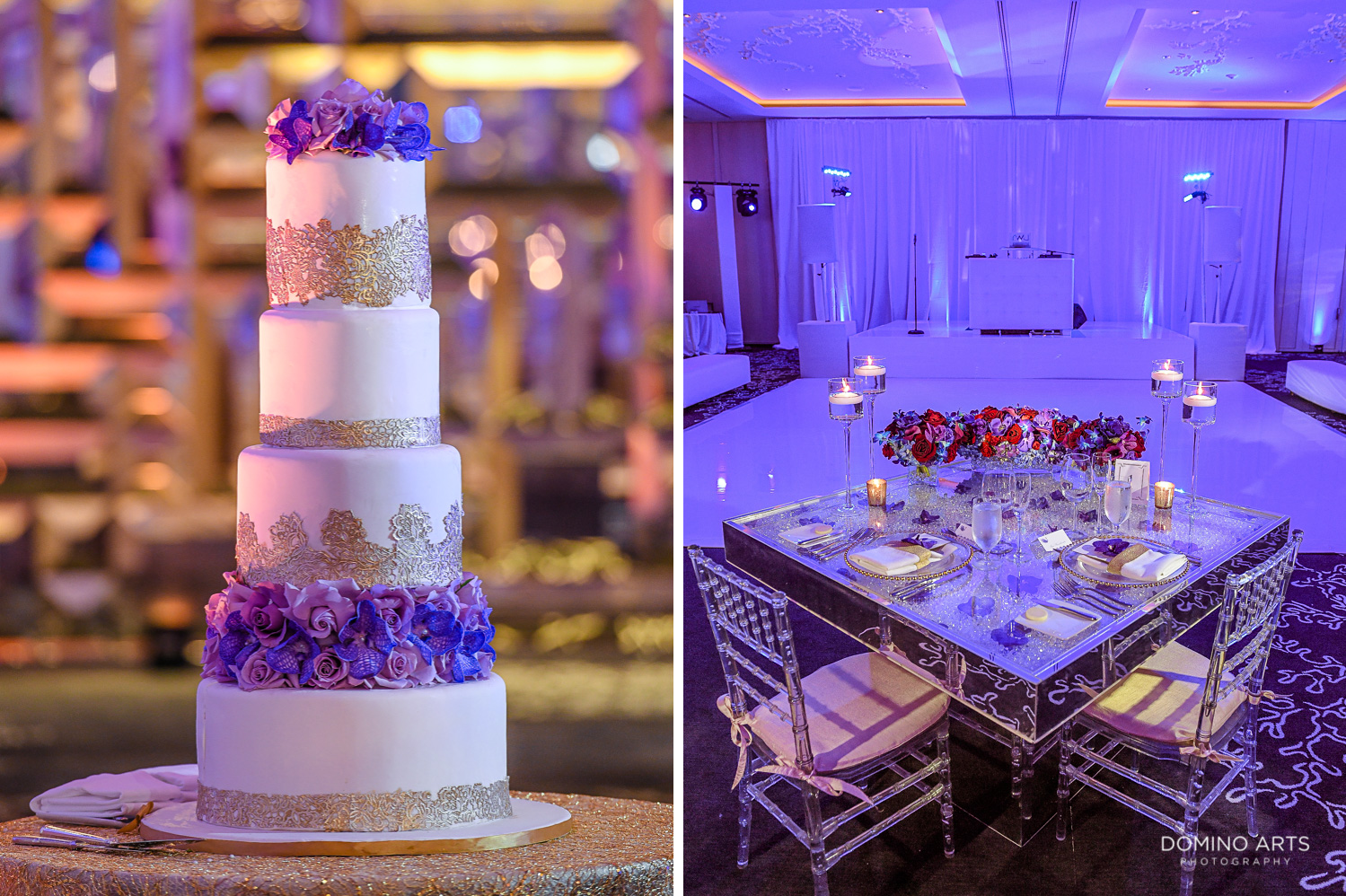 Wedding cake picture in contemporary and elegant design at The St. Regis Bal Harbour