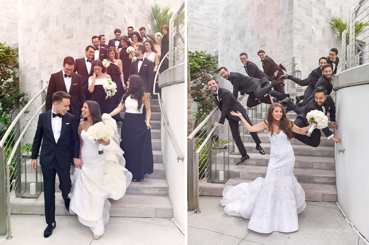 Fun wedding party pictures at The Miami Beach Edition