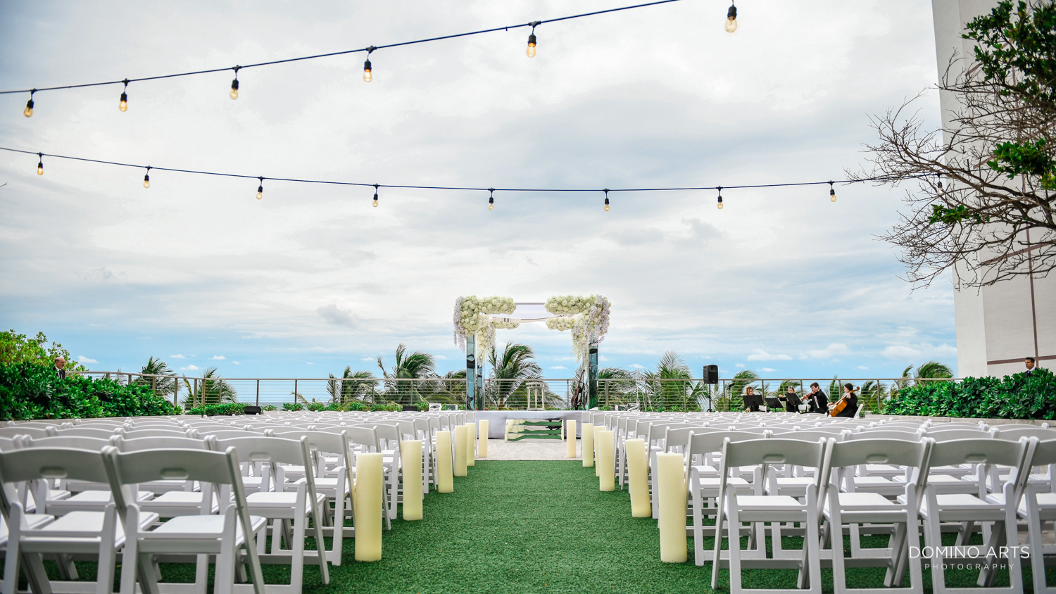 Luxury boutique wedding chuppah décor at The Miami Beach Edition