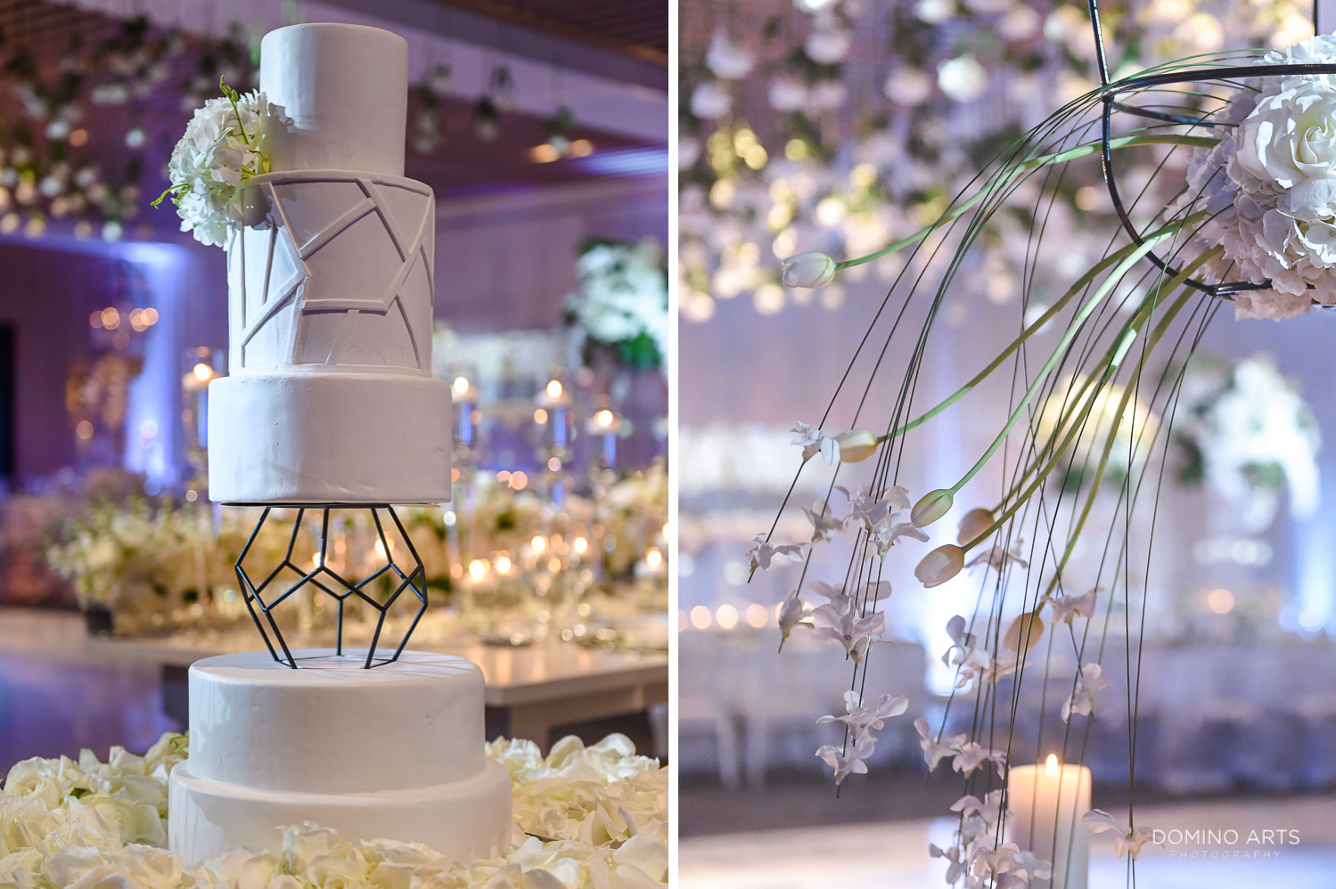 Wedding cake picture in contemporary and elegant design at The Miami Beach Edition
