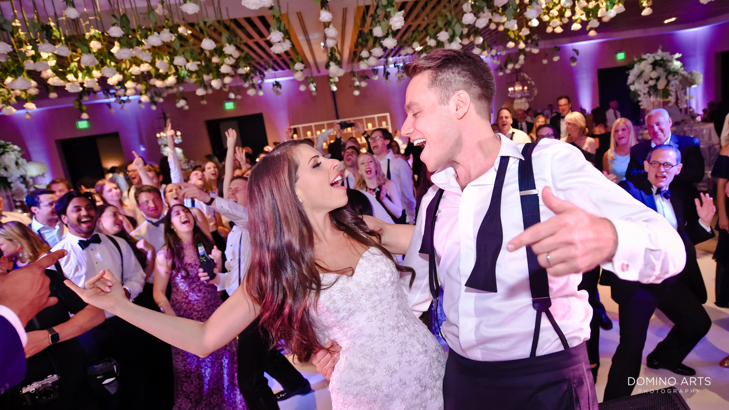 Fun party wedding pictures of bride and groom at The Miami Beach Edition