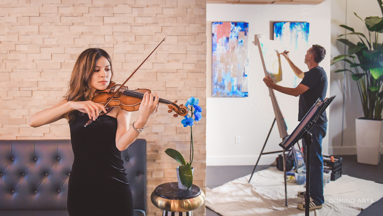 Violin and artist entertainment ar Circ Hotel Grand Opening Corporate Event in Hollywood, Florida