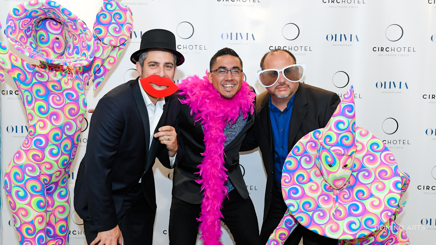 Fun photo booth pictures at Circ Hotel Grand Opening Corporate Event in Hollywood, Florida