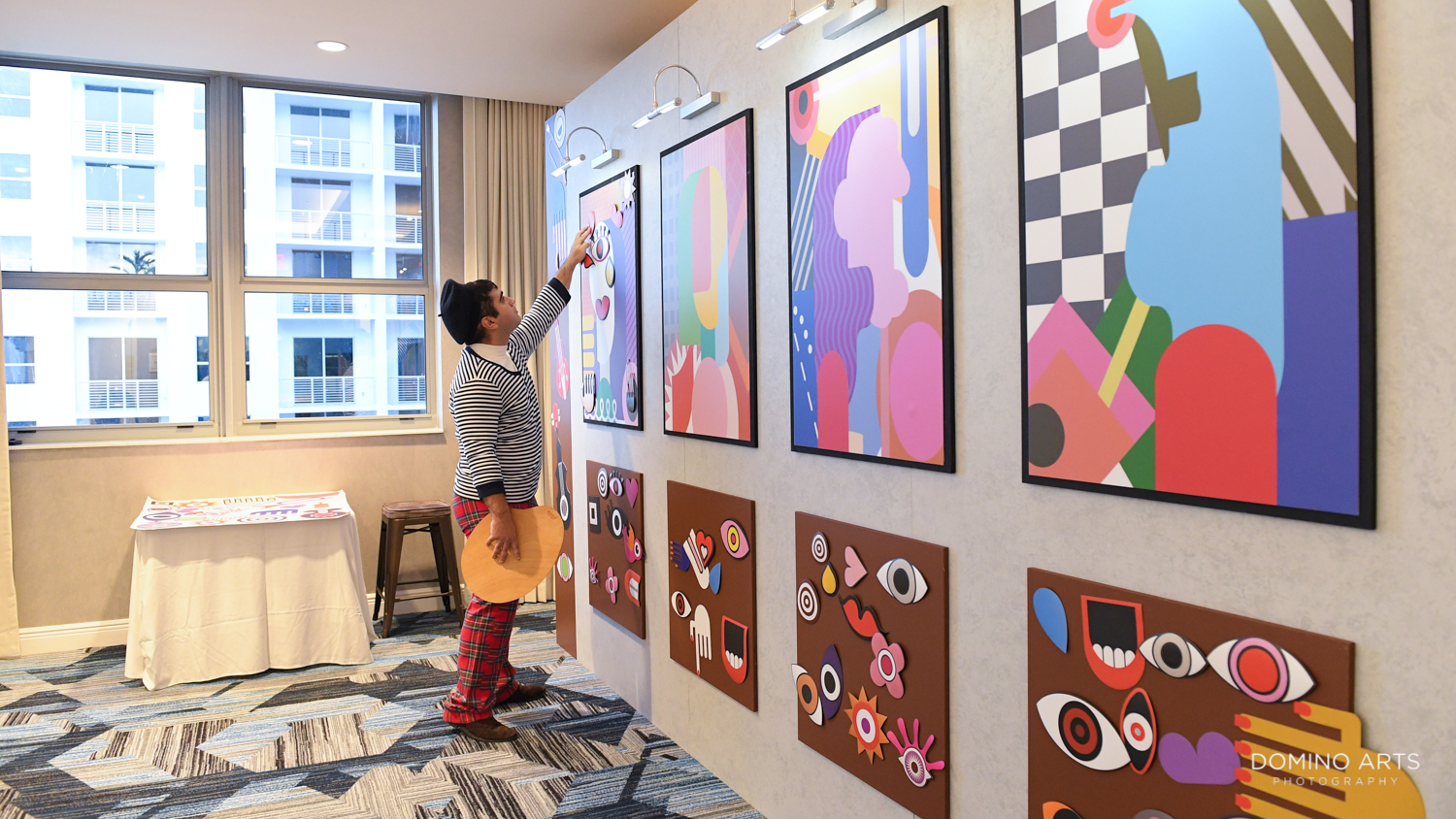 Interactive art exhibit pictures at Circ Hotel Grand Opening Corporate Event in Hollywood, Florida