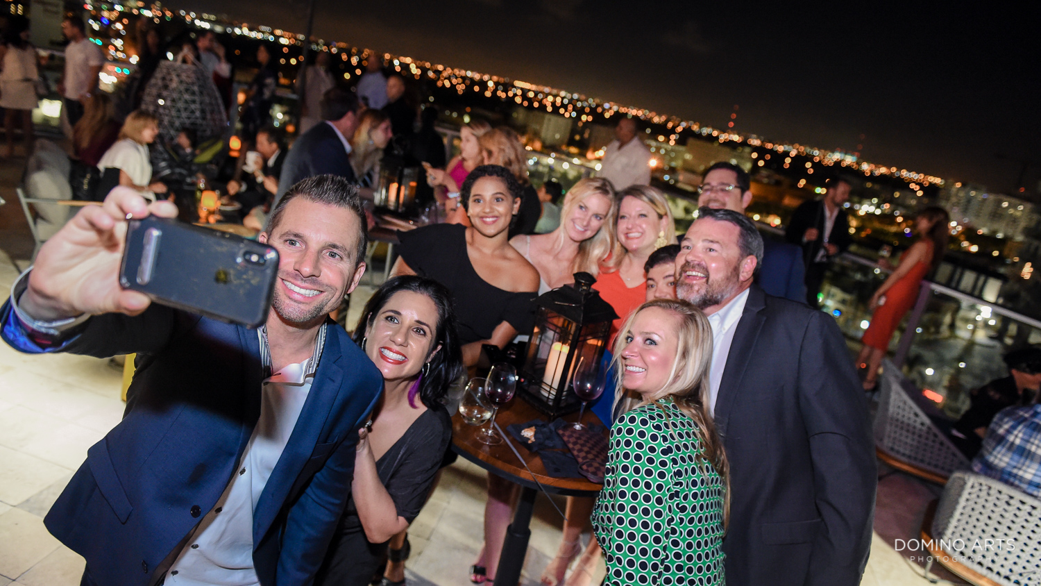 Fun selfie pictures at Circ Hotel Grand Opening Corporate Event in Hollywood, Florida