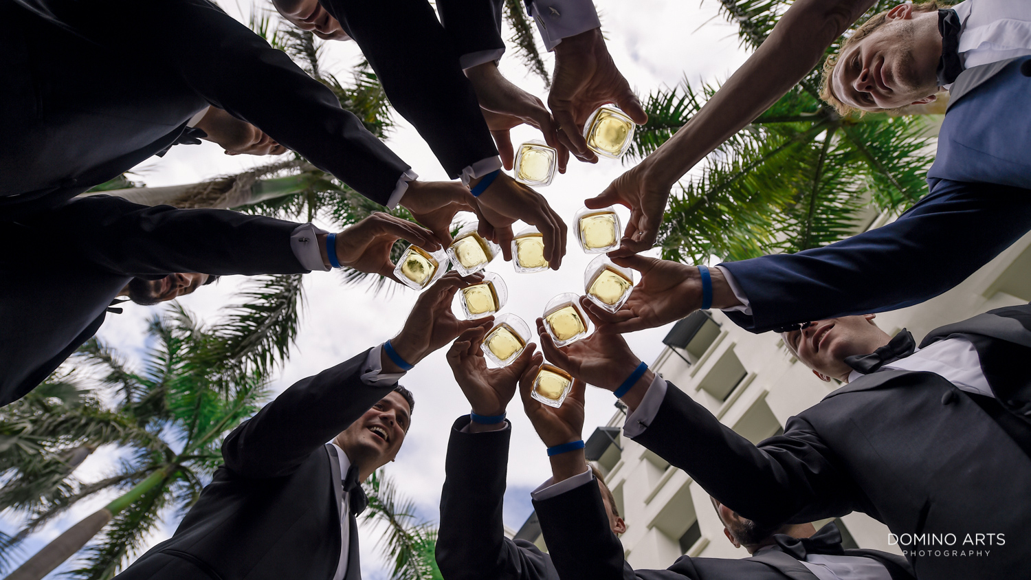 Cool wedding picture of groomsman at Boca Raton Resort