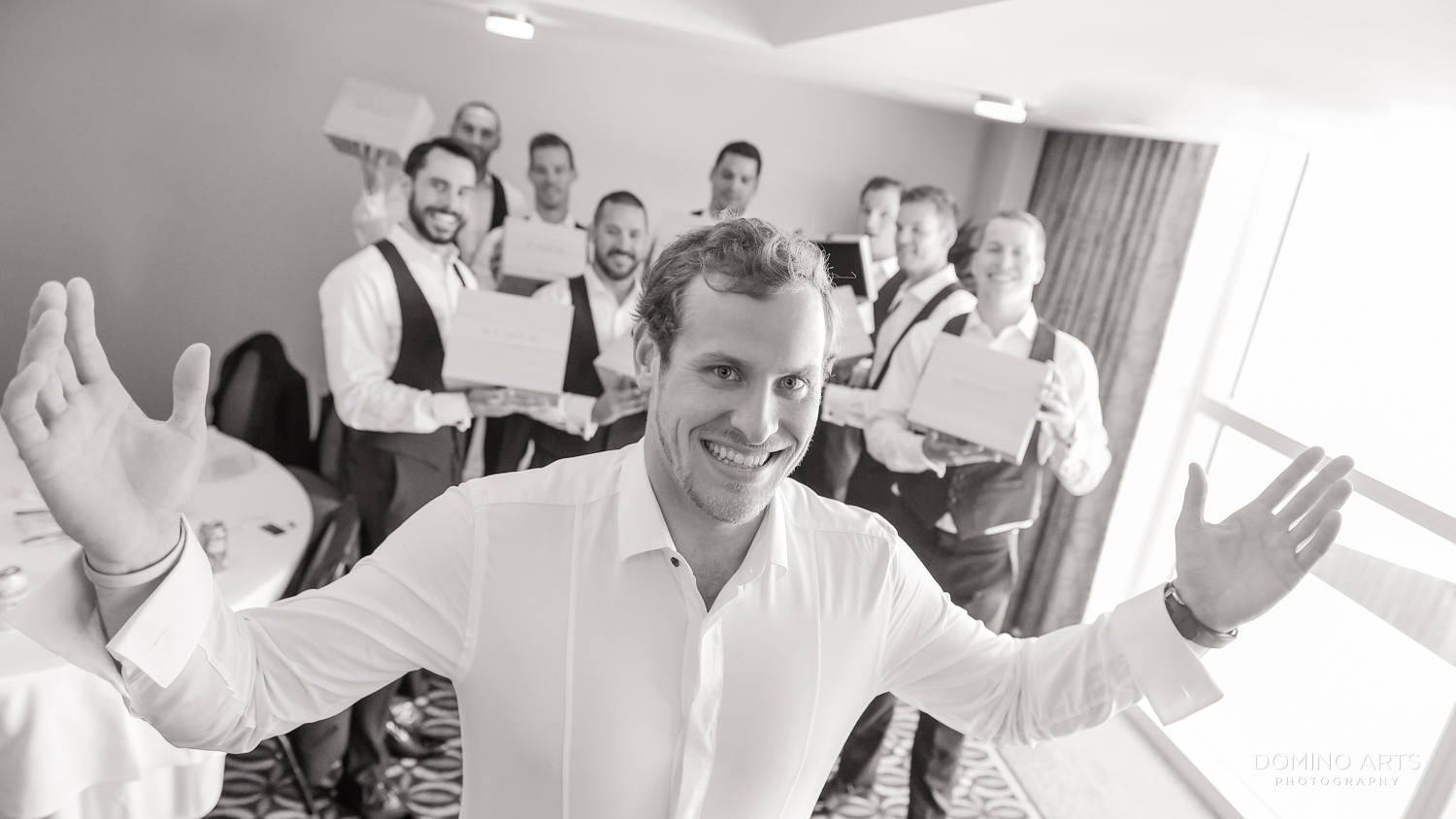 Groom getting ready picture at Boca Raton Resort