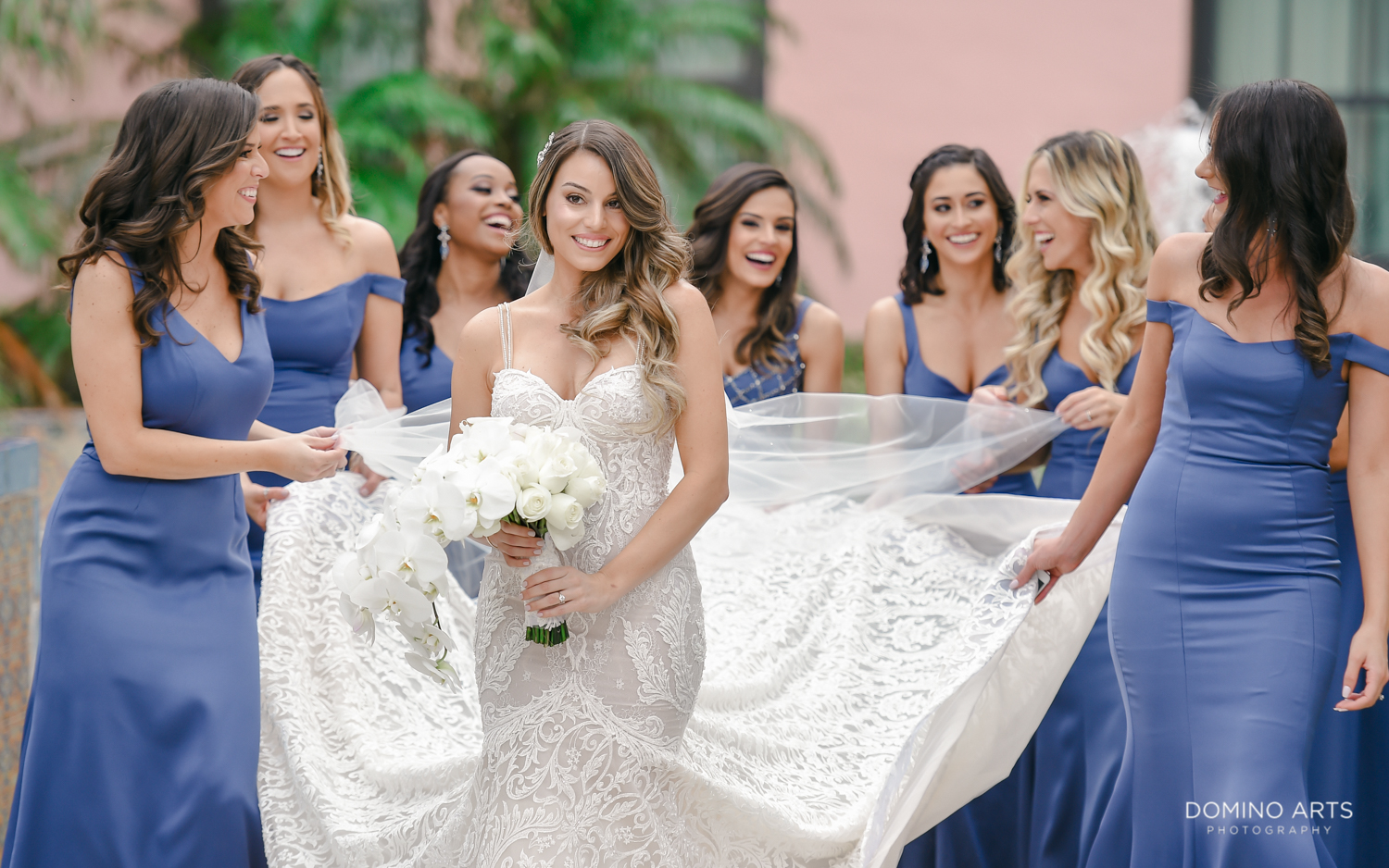 Fun bridal party pictures at Boca Raton Resort